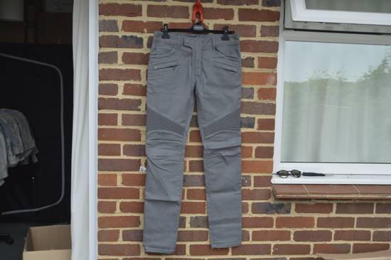 Balmain Grey Distressed Biker Jeans Size US 27