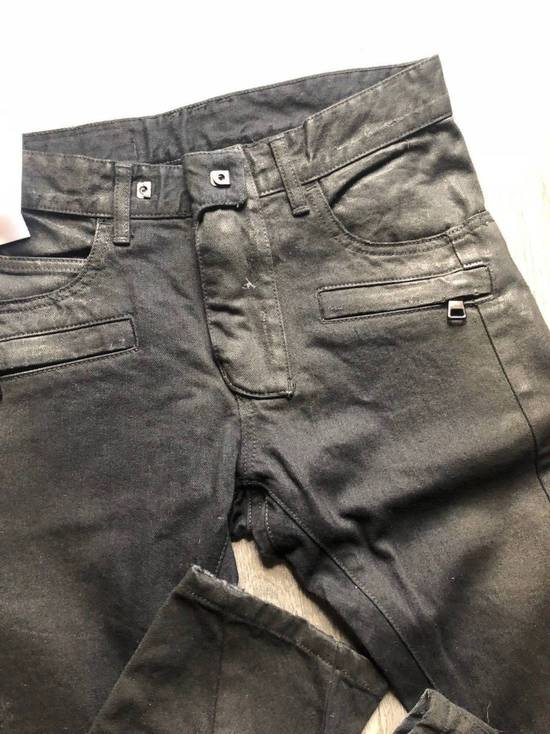 Balmain Balmain Authentic $1090 Waxed Denim Biker Jeans Size 27 Slim Fit Brand New Size US 27 - 2