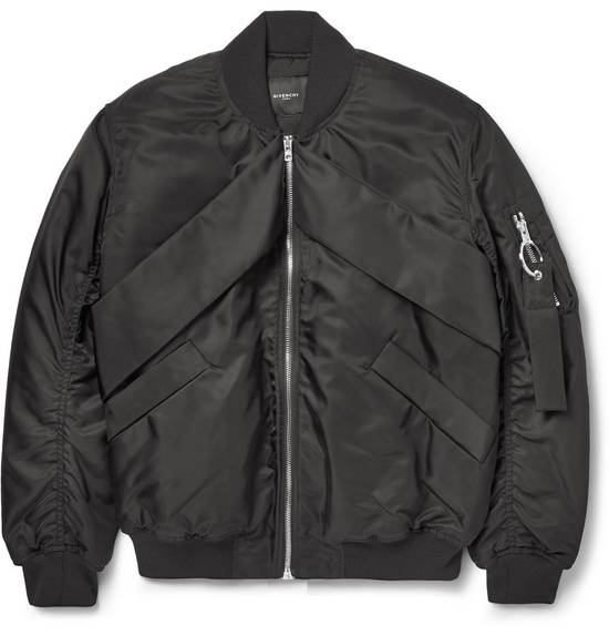 Givenchy Givenchy Black Banded Rottweiler Nylon Shell Bomber Jacket 2014 size 48 (M) Size US M / EU 48-50 / 2 - 2