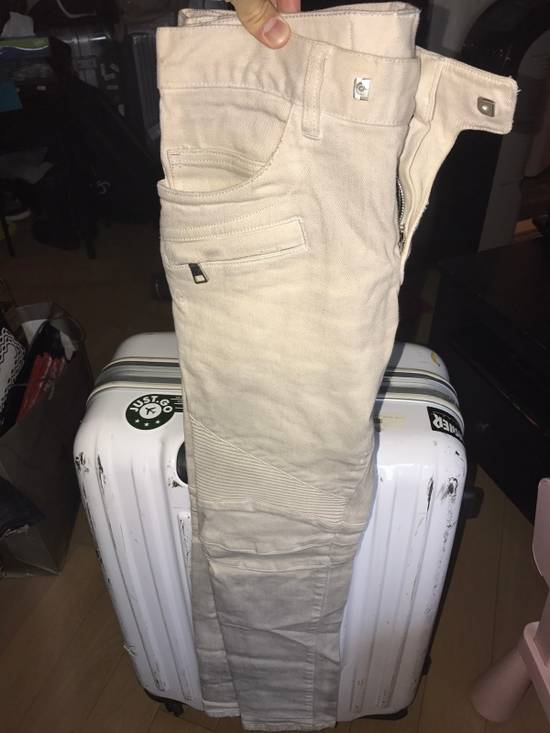 Balmain Balmain Ivory Biker Jeans Size US 30 / EU 46