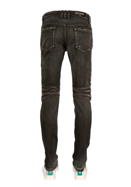 Balmain Distressed Slim Biker Jeans Size US 34 / EU 50 - 3