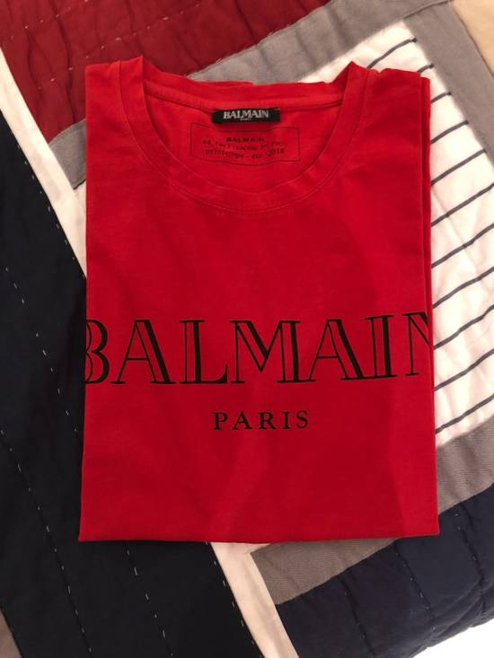 Balmain Balmain París Red Logo Print Tee Size US S / EU 44-46 / 1