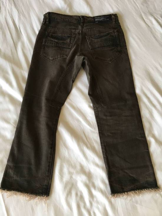 Julius Japan made cropped wrinkle and dirt effect distressed frayed hem Jeans Size US 28 / EU 44 - 13