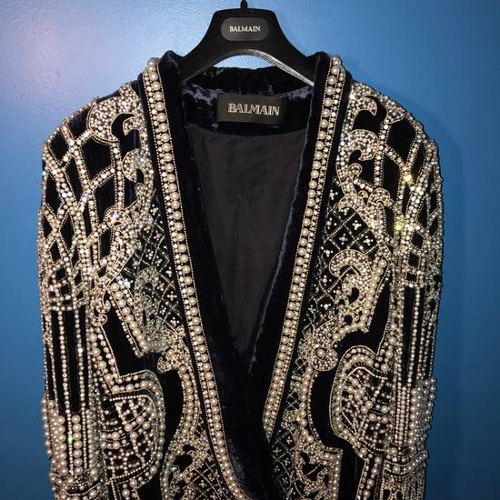 Balmain Balmain Fall 2012 Swarovski Crystal & Pearl Fabergé Tuxedo Size US XXL / EU 58 / 5 - 8