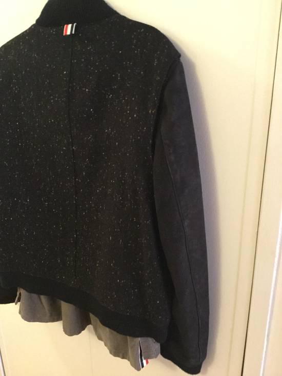Thom Browne Calf Leather sleeve Wool bomber Size US L / EU 52-54 / 3 - 8