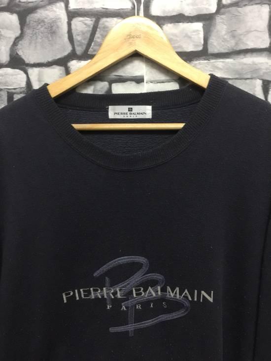 Balmain ⚡️Final Drop⚡️Pierre Balmain Embroidered Spellout Sweatshirt Size US L / EU 52-54 / 3 - 4