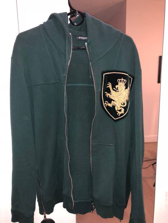 Balmain Green Patchwork Hoodie Size US M / EU 48-50 / 2 - 1