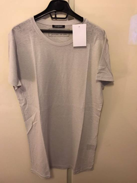 Balmain M, L & XXL --- Light Grey Silk Tee Size US L / EU 52-54 / 3