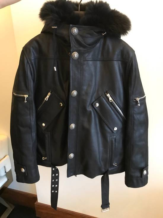 Balmain Leather Parka With Fur With Detachable Jacket And fur Size US M / EU 48-50 / 2 - 2