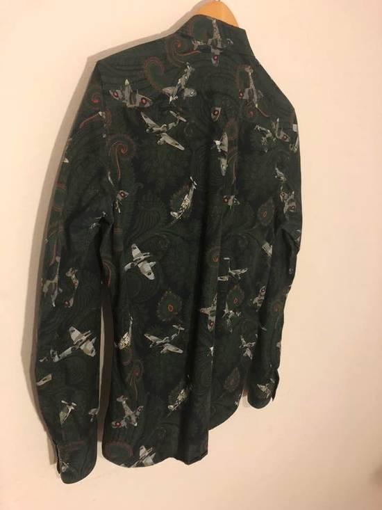Givenchy Green/Navy Paisley Airplane Print Shirt Size US M / EU 48-50 / 2 - 7