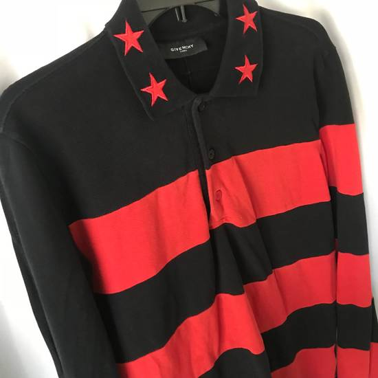 Givenchy $995 Givenchy Long Sleeve Stars and Stripes Polo Shirt Size US S / EU 44-46 / 1 - 4