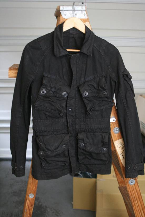 Julius Coated Black Gasmask Cargo Jacket Size US S / EU 44-46 / 1 - 4