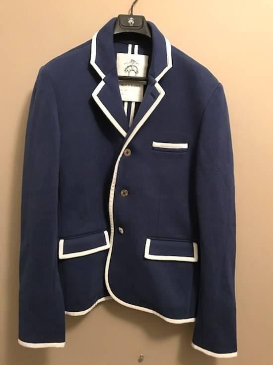 Thom Browne Bright Blue Knit Blazer Size 44R - 4