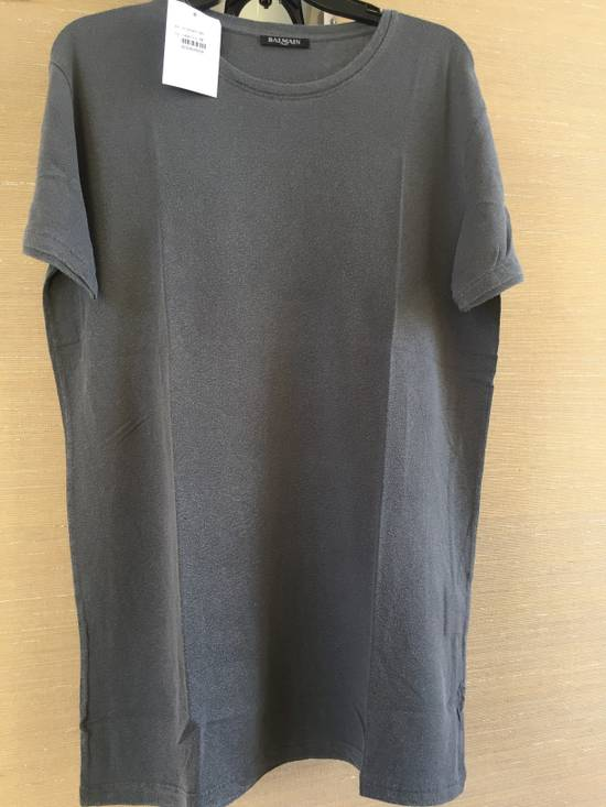 Balmain Grey Silk Tee Size US M / EU 48-50 / 2 - 2
