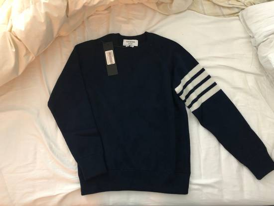 Thom Browne NWT Cashmere crew neck In Navy (size 2) Size US S / EU 44-46 / 1