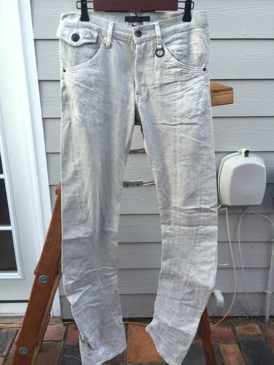 Julius SS09 Distressed J Cut Plaster Denim Size US 30 / EU 46