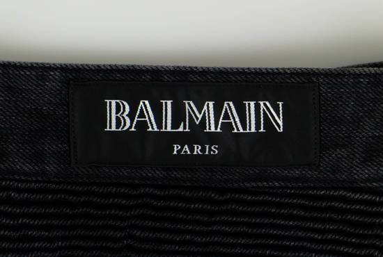 Balmain Black Cotton Denim Biker Jeans Size US 34 / EU 50 - 4