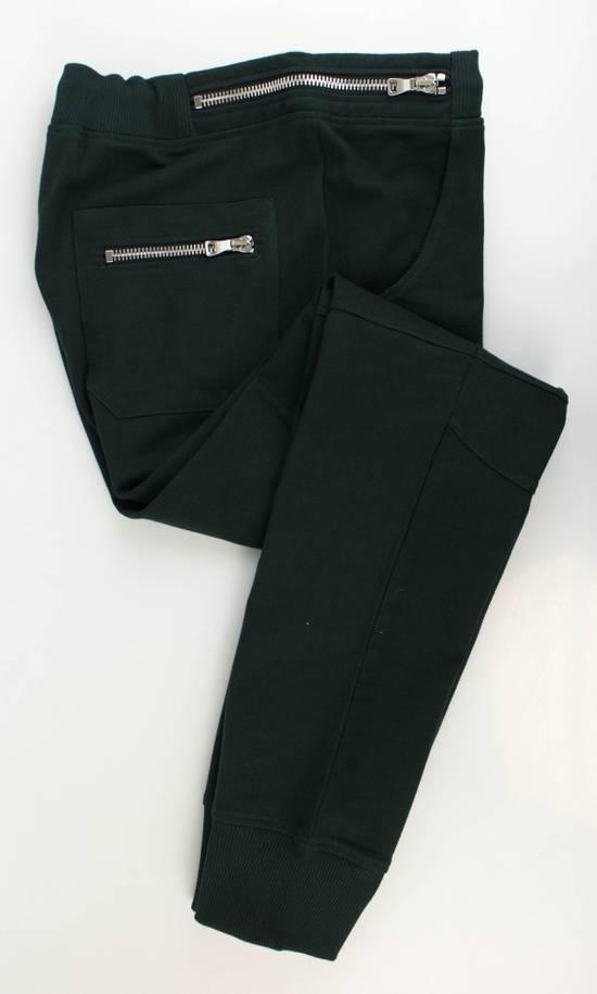 Balmain Men's Green Cotton Leggings Biker Pants Size XL Size US 38 / EU 54