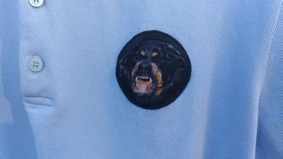 Givenchy Givenchy Baby Blue Rottweiler Patch Slim Fit Polo Shirt T-shirt size XXL (L) Size US L / EU 52-54 / 3 - 3