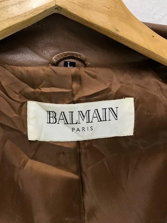 Balmain Balmain Paris Vintage Sheep Leather Jacket Brown Size US L / EU 52-54 / 3 - 5