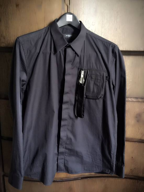 Givenchy Popeline Shirt With Pocket Zip Detail Size US M / EU 48-50 / 2 - 5
