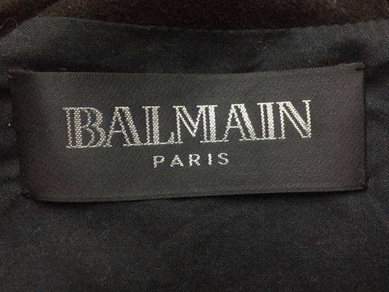Balmain Waxed Raccoon Fur Suede Biker Leather Jacket Size US XS / EU 42 / 0 - 5