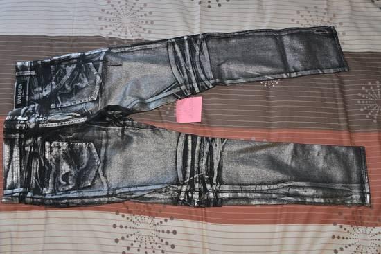 Balmain Silver stretch cropped pants Size US 33 - 5