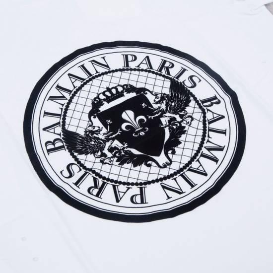 Balmain SS18 New White Cotton Balmain Velvet Logo Print Tshirt Size US M / EU 48-50 / 2 - 5