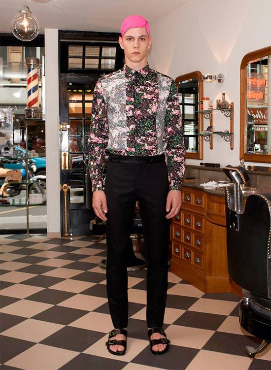 Givenchy GIVENCHY Pre14 reversed panel rose floral digital print cotton shirt US40 FR50 Size US M / EU 48-50 / 2 - 1