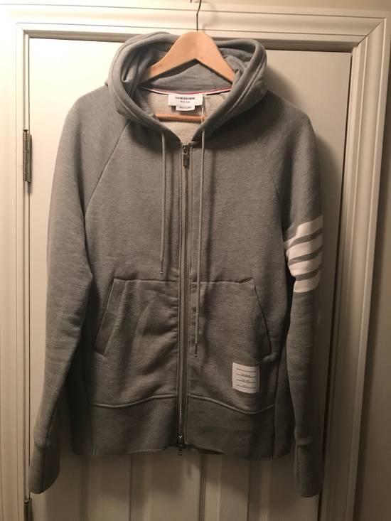 Thom Browne Classic Grey Zip Up Hoodie Size US L / EU 52-54 / 3