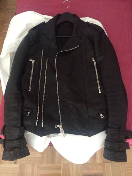 Balmain ss13 lamb leather biker jacket Size US M / EU 48-50 / 2