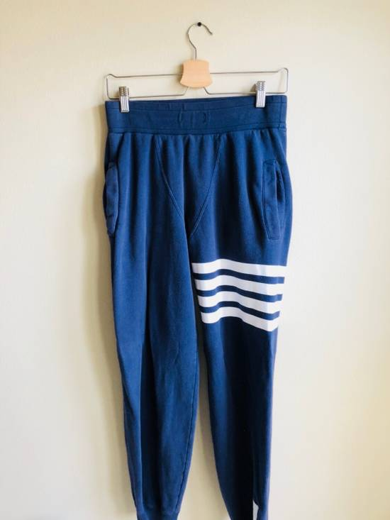 Thom Browne Navy Classic Four Bar Lounge Pants Size US 30 / EU 46