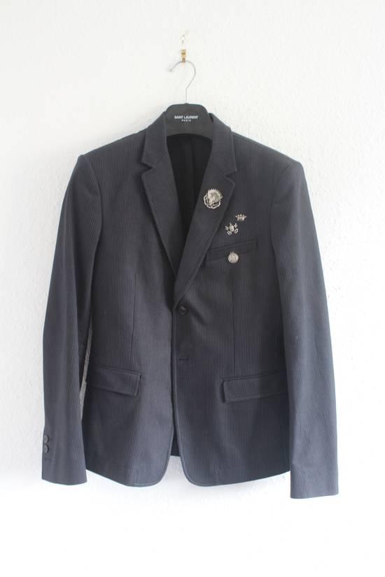 Balmain SS11 Campaign Decarnin Era Striped Pins Blazer Size 50R - 2