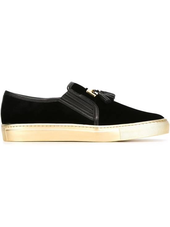 Balmain Men's Black Tasseled Velvet Slip-on Sneakers (BN) Size US 11 / EU 44