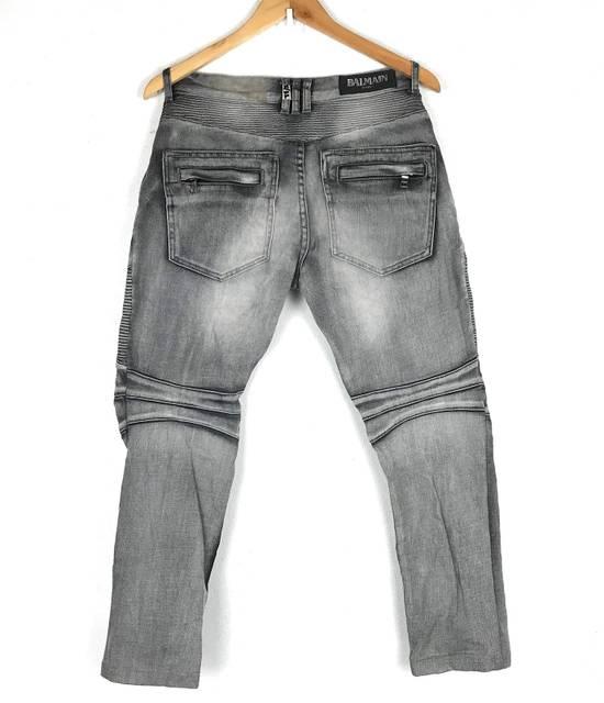 Balmain Rare! Distressed Balmain Biker Denim Jean Trouser Skinny Luxury Designer Size US 32 / EU 48 - 1