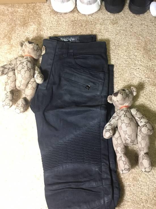 Balmain Balmain Black Biker Jeans Size US 29