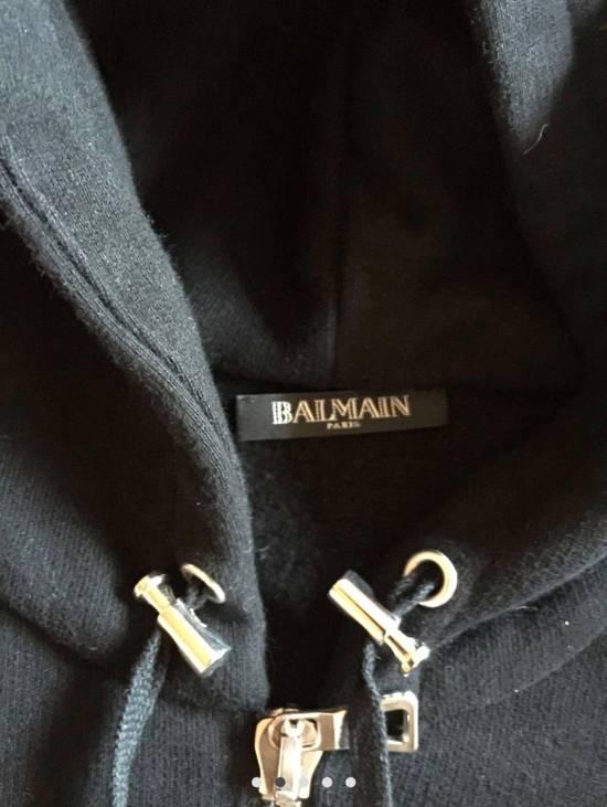 Balmain Lamb Skin Zip up Hoodie Size US M / EU 48-50 / 2 - 2