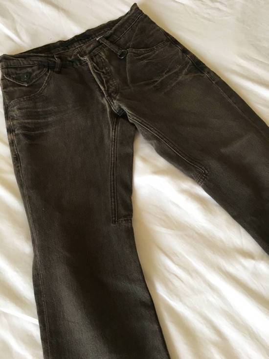 Julius Japan made cropped wrinkle and dirt effect distressed frayed hem Jeans Size US 28 / EU 44 - 5