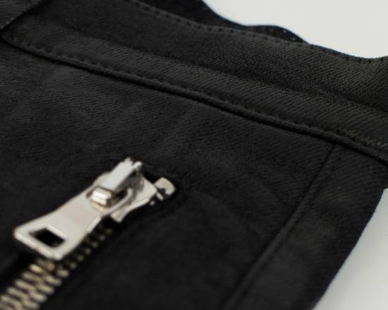 Balmain BNWT Biker Skinny Waxed Denim Black Zipper Jeans Size US 30 / EU 46 - 3