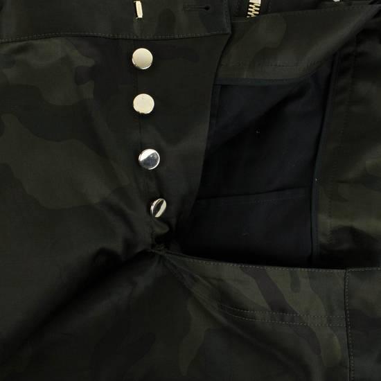 Balmain Men's Green Cotton Blend Camouflage Biker Pants Size L Size US 36 / EU 52 - 1