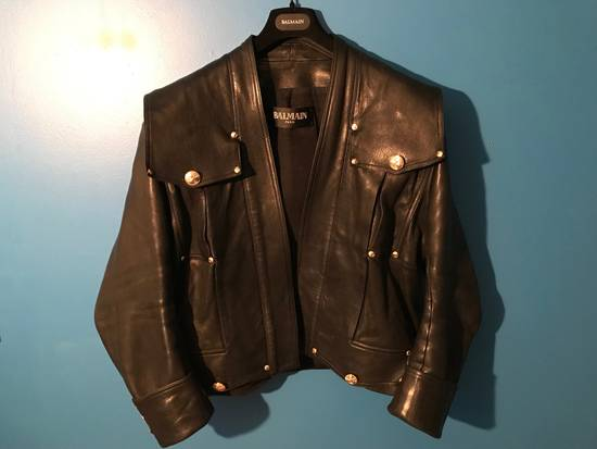 Balmain Lambskin Gold Button Detail Jacket Size US L / EU 52-54 / 3