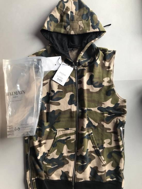 Balmain Sleeveless Camo Hoodie Size US S / EU 44-46 / 1
