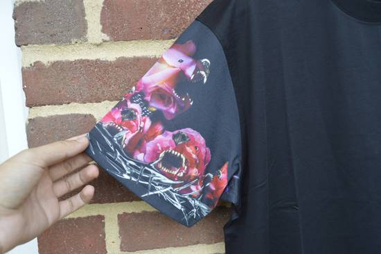 Givenchy Floral Rottweiler Sleeves T-shirt Size US M / EU 48-50 / 2 - 1