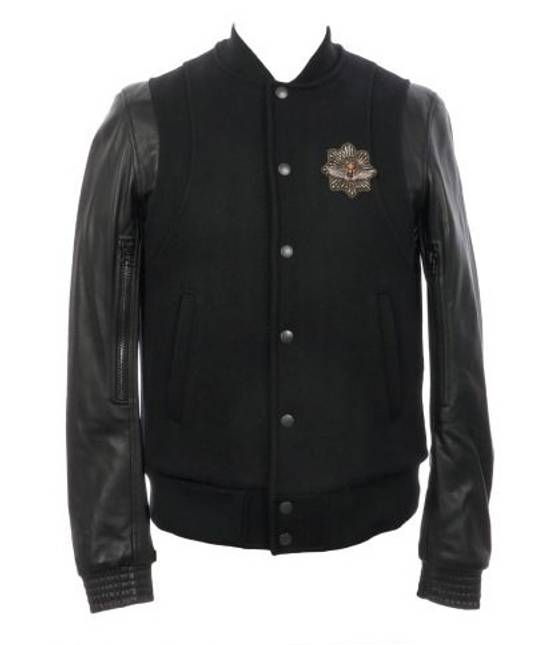 Balmain Balmain Varsity Teddy Bomber Jacket Leather Wool Black Size 52 Decarnin FW10 Large Baseball Size US L / EU 52-54 / 3 - 2