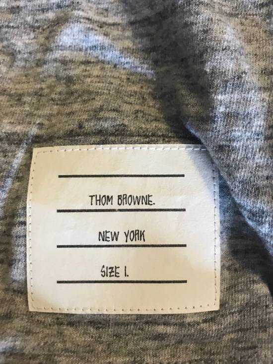 Thom Browne Thom Browne Grey Henley Cotton T-shirt with Grey Grosgrain Size US S / EU 44-46 / 1 - 2
