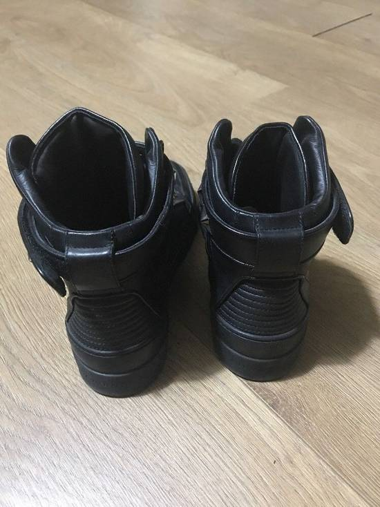 Givenchy Black Leather Tyson Star Hi Top Sneakers Size 9 UK 43 Silver Calf Boots Size US 9.5 / EU 42-43 - 3