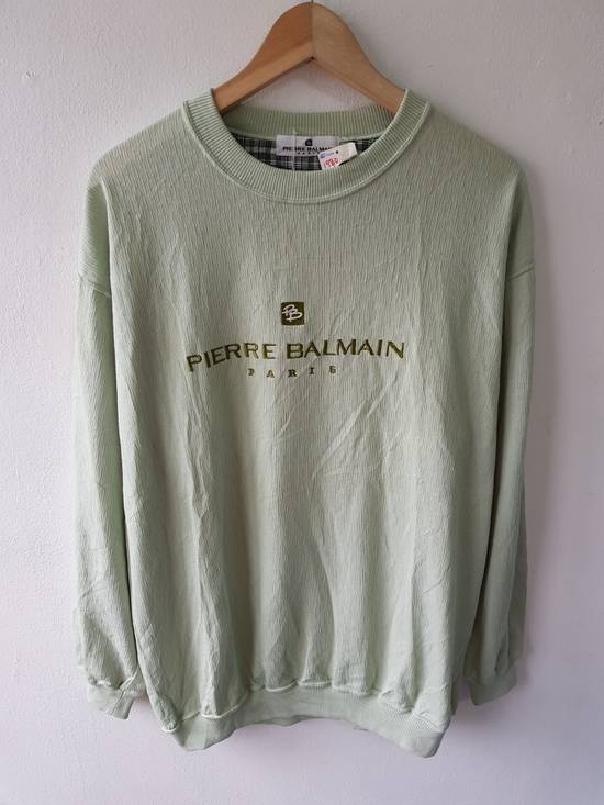 Balmain Japan Pierre Balmain Paris Embroidered Jumper Sweater Shirt Size US L / EU 52-54 / 3