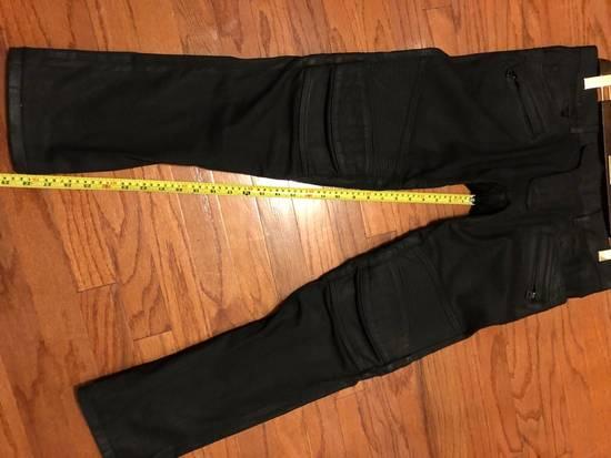 Balmain Black Coated Biker Jeans Size US 34 / EU 50 - 5
