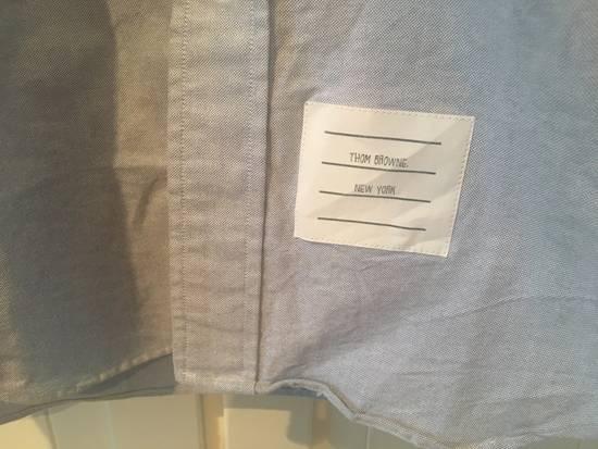 Thom Browne Light Blue Oxford Shirt w/Signature Grosgrain Placket Size US S / EU 44-46 / 1 - 3