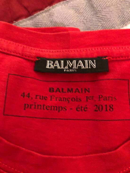 Balmain Balmain París Red Logo Print Tee Size US S / EU 44-46 / 1 - 1